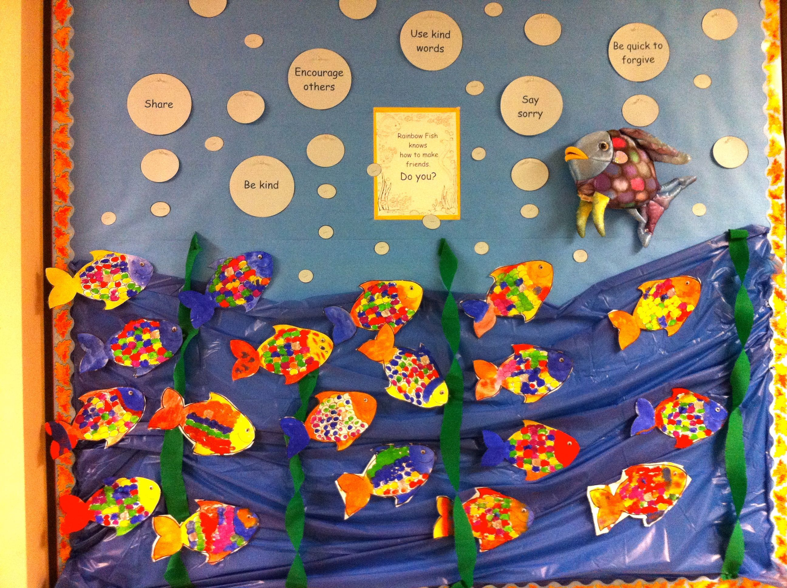 Marcus Pfister S Rainbow Fish Making Friends Display For