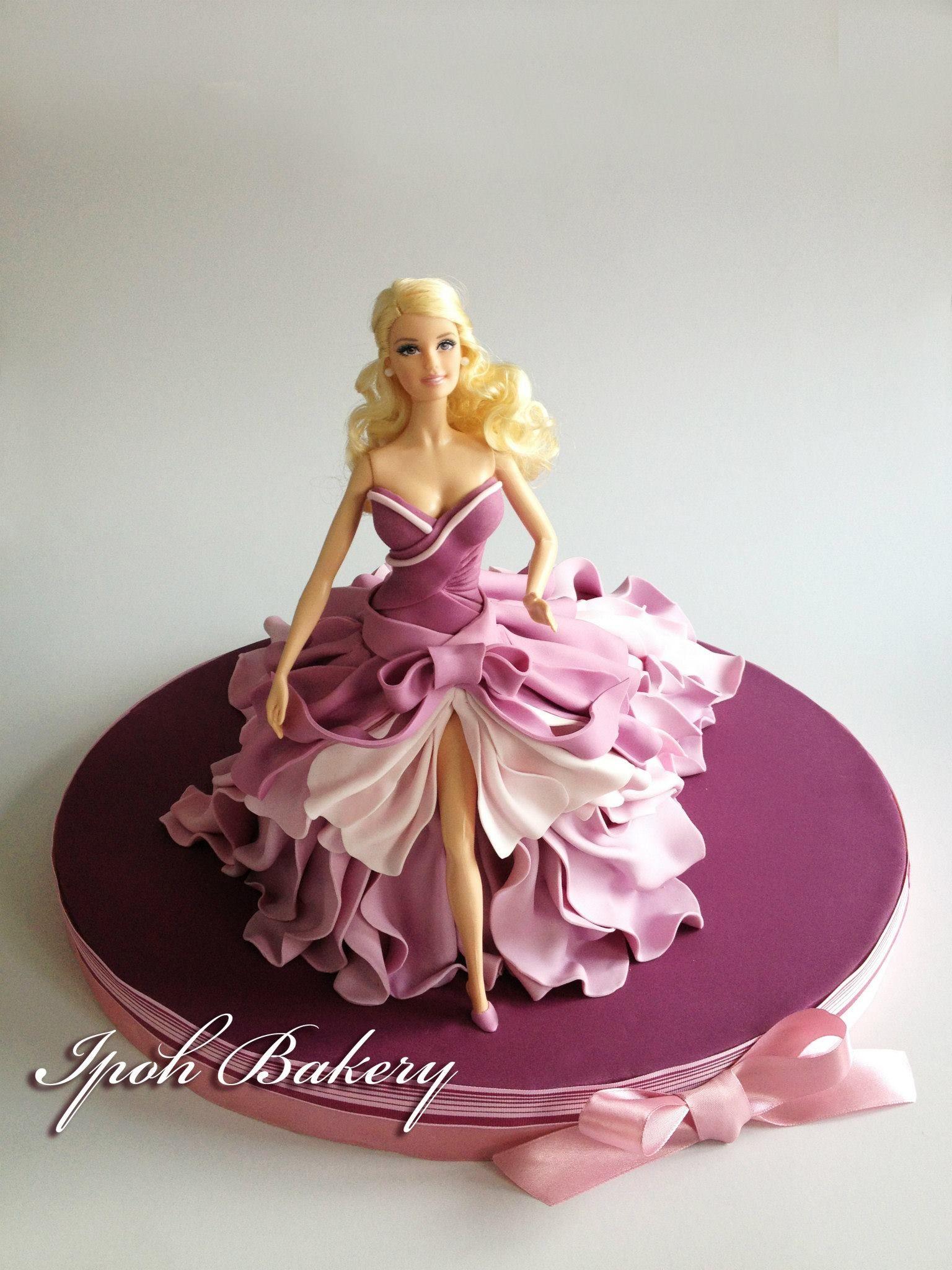 Barbie Doll Fondant Cake By Ipoh Bakery