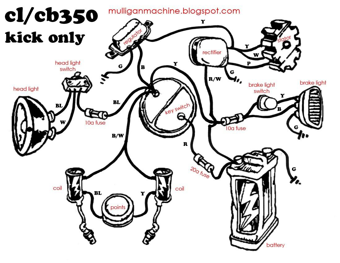 1975 ct90 wiring diagram lifan 125cc honda cb350 simple - google search | useful information for motorcycles ...