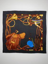 Ralph Lauren Equestrian-Print Silk Scarf   Equestrian chic ...