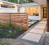 Landscaping And Outdoor Building , Modern House Front Yard ...