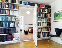 Furniture, Wall Modern Bookshelves With Large Shape With ...
