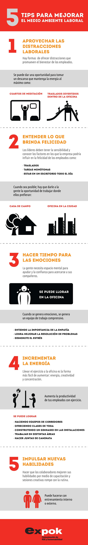 ¿cómo Mejorar El Ambiente Laboral?, Infografía  El Medio