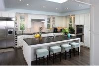Amazing Contemporary Island In Sweet Kitchen With Low ...