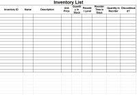 Inventory Tracking Spreadsheet Template   Free Inventory ...