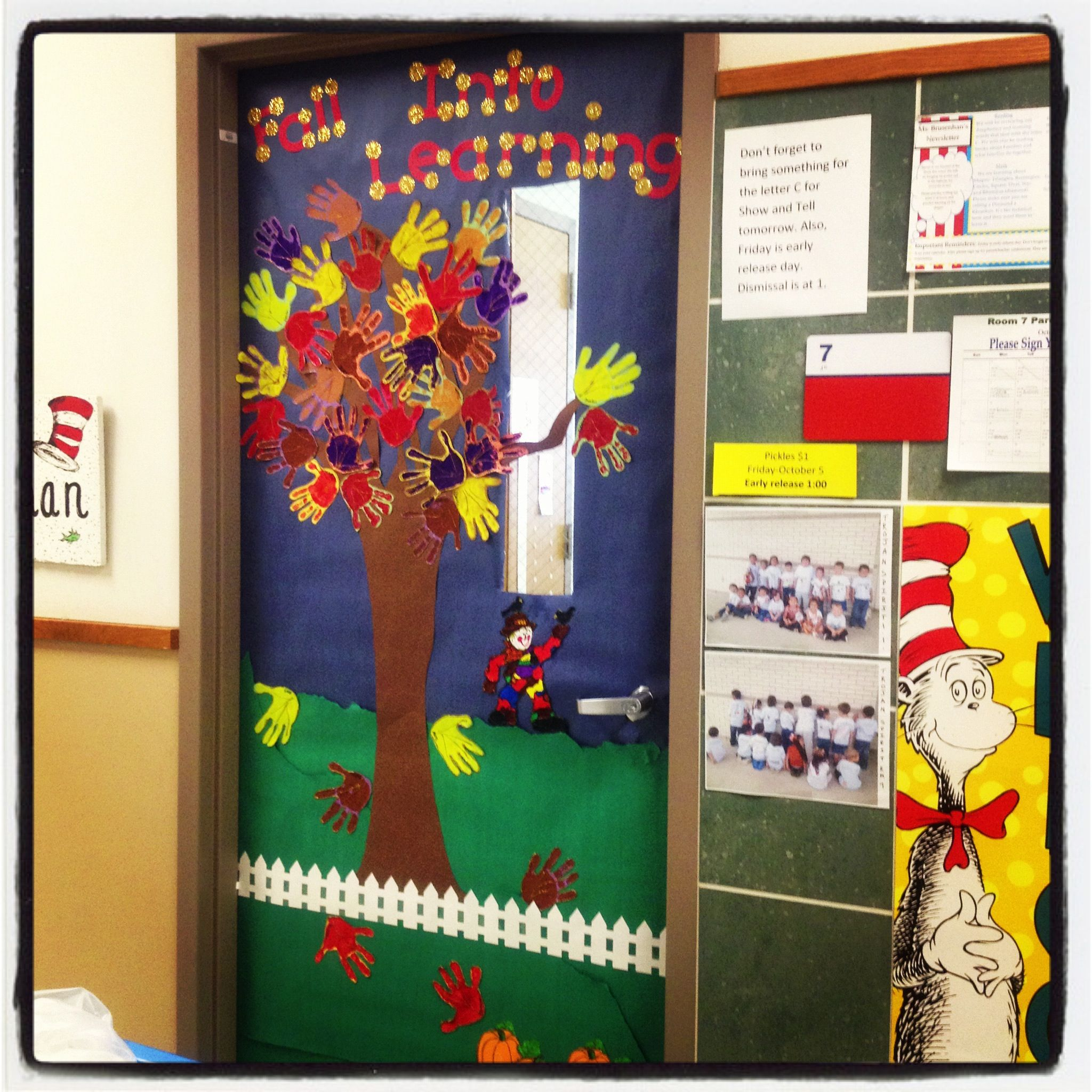 Fall Classroom Door The Kids Handprints Are The Leaves