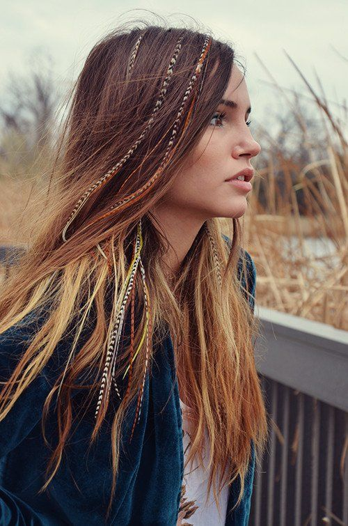 ClipIn Feather Extensions  Feathered hair Hair