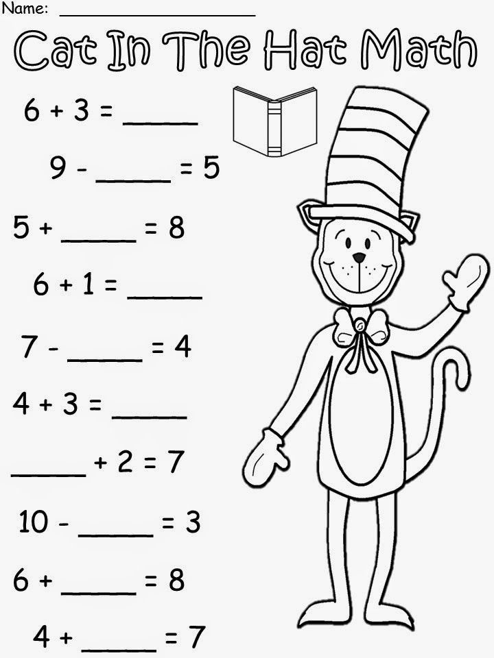 Free: Cat In The Hat Math based on the story by Dr. Seuss
