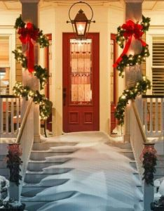 Bring cheer to your house this holiday season with these easy porch decorating ideas christmas decoration please enable javascript view the also front door doors pinterest and window rh