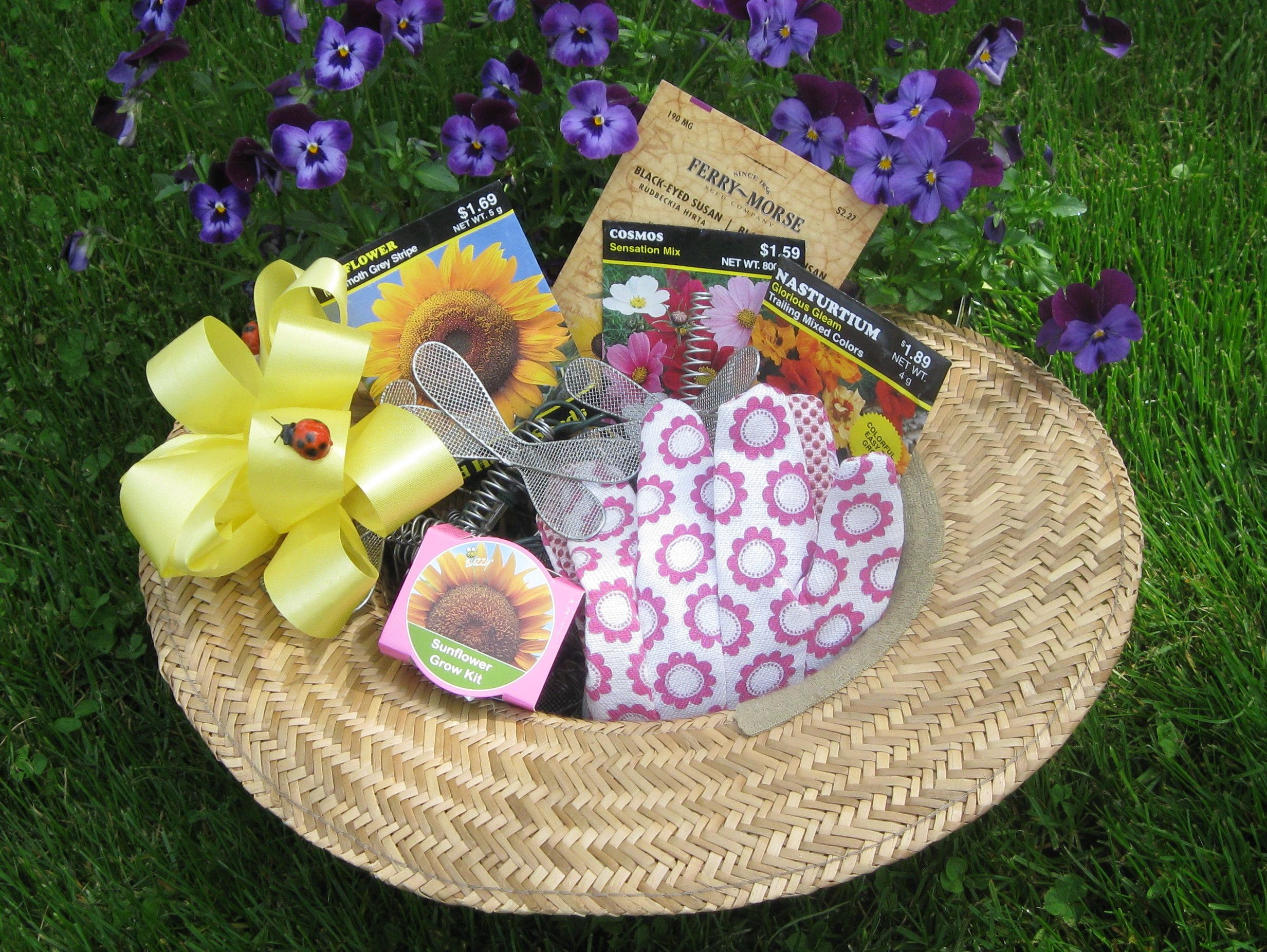 Gardening T Baskets Make A Garden Hat Into A T Basket For