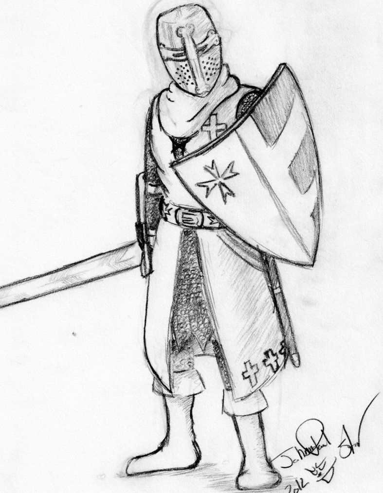 Knights Templar Coloring Pages