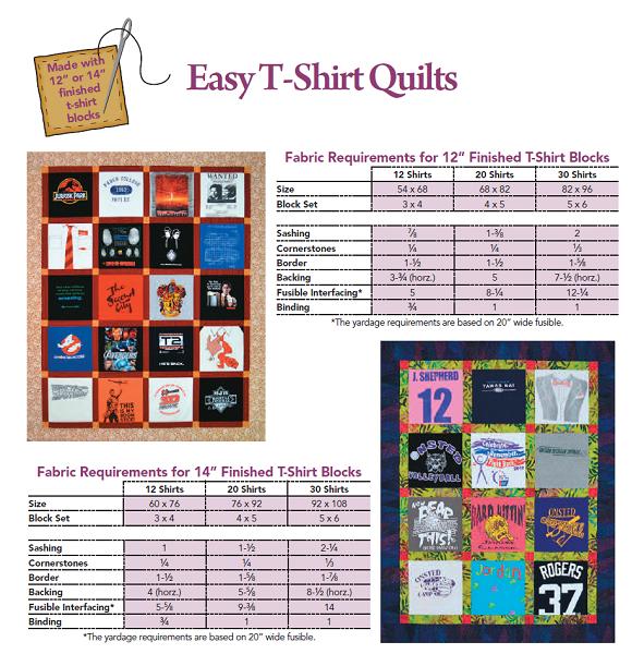 T Shirt Quilt Layout