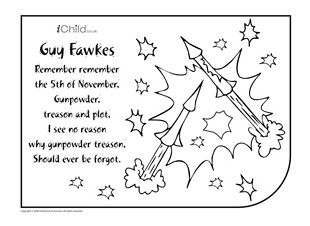 Have fun colouring in your very own Firework picture on