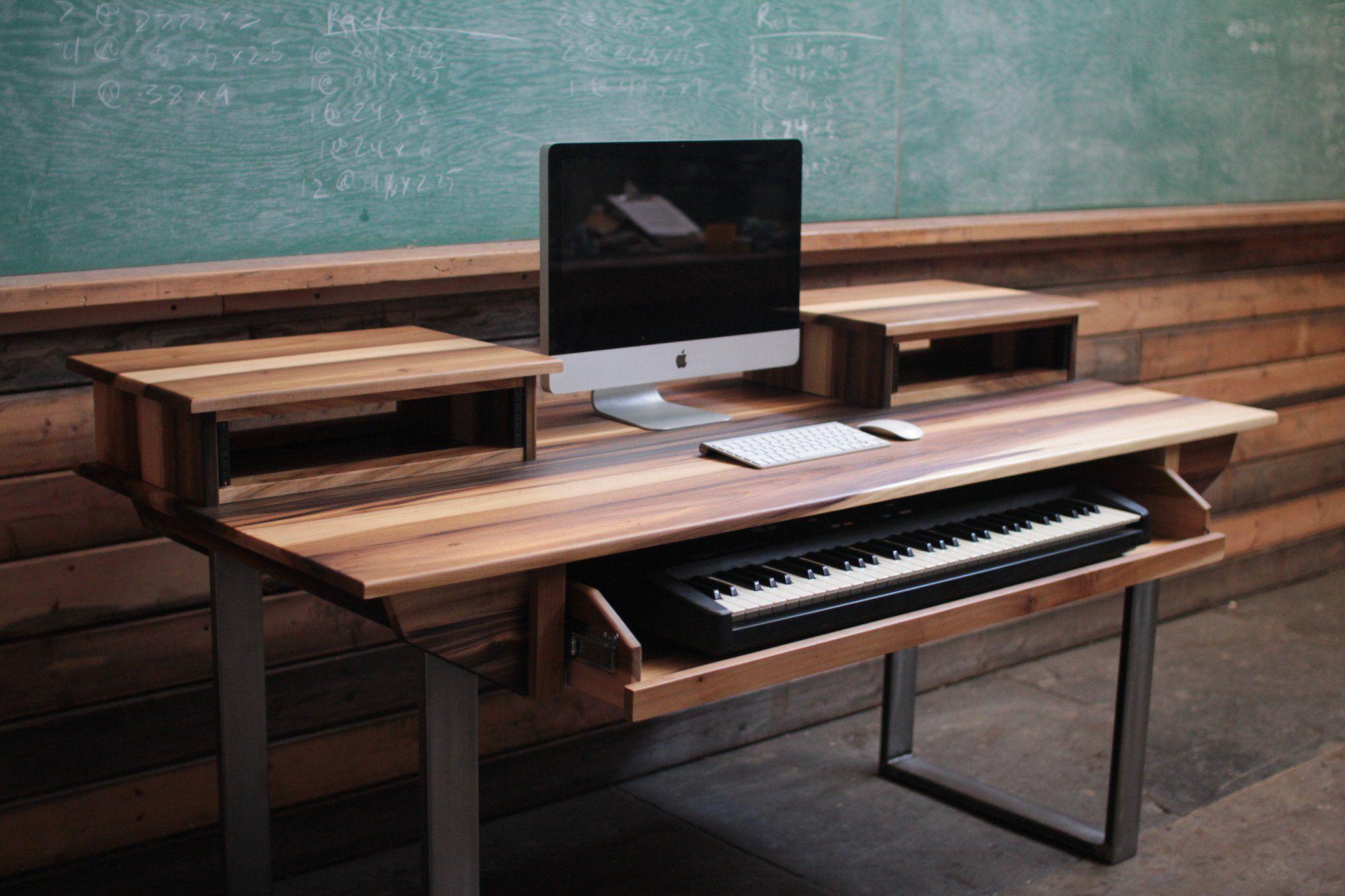 Mid Size 61 key Studio Desk for Audio  Video  Music