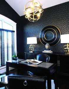 Feminine office design pictures remodel decor and ideas page versace pinterest home offices also rh