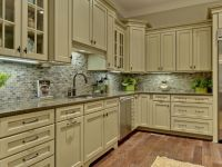 Kitchen: Sage Green Kitchen Cabinets Teak Wood Tile ...