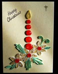 Christmas candle quilled creations quilling gallery cardsquilling ideasquilling also rh nz pinterest