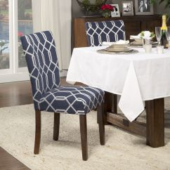 Navy Dining Room Chair Covers Rocking Recliner Chairs Liven Up An Existing Table With Some Fun New This