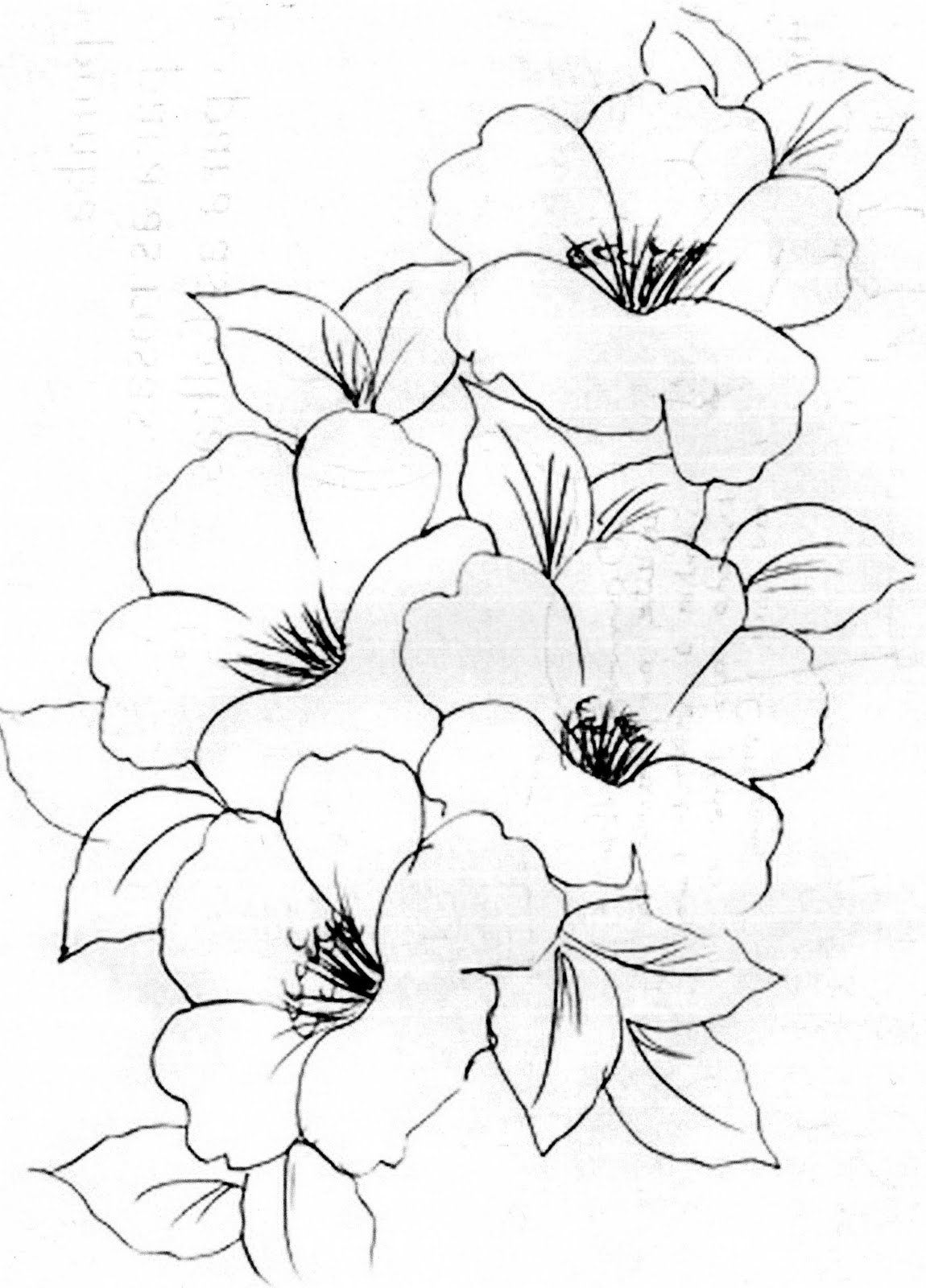 Flower image, clip art. Color in. Blank, fill in yourself