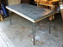 Lightweight Composite Concrete Table Top Urethane Coating