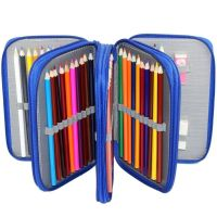 Pencil Case | Zippered 72 Pencil Holder - Blue | Pencil ...