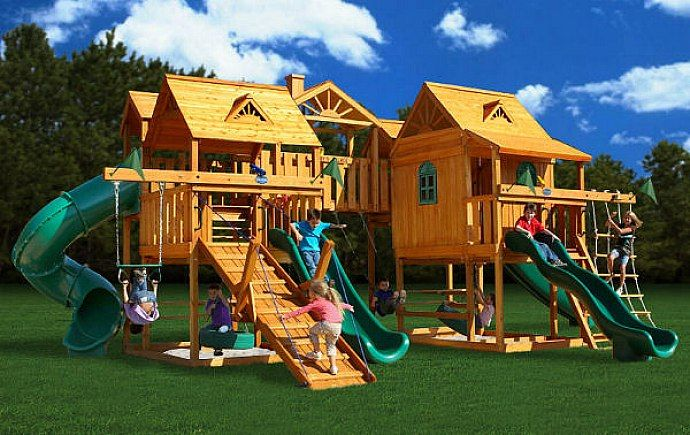 Awesome backyards playsets design ideas