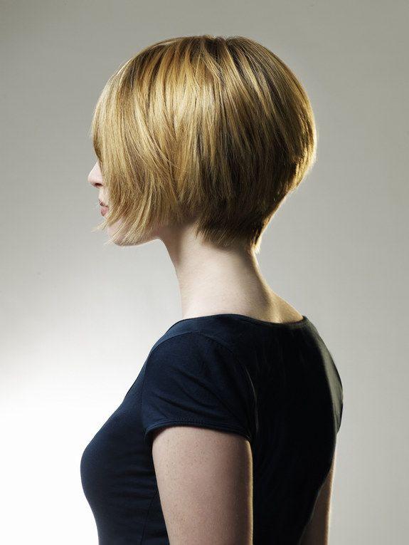Pagenkopf  Kurzhaarschnitt fr blonde Haare