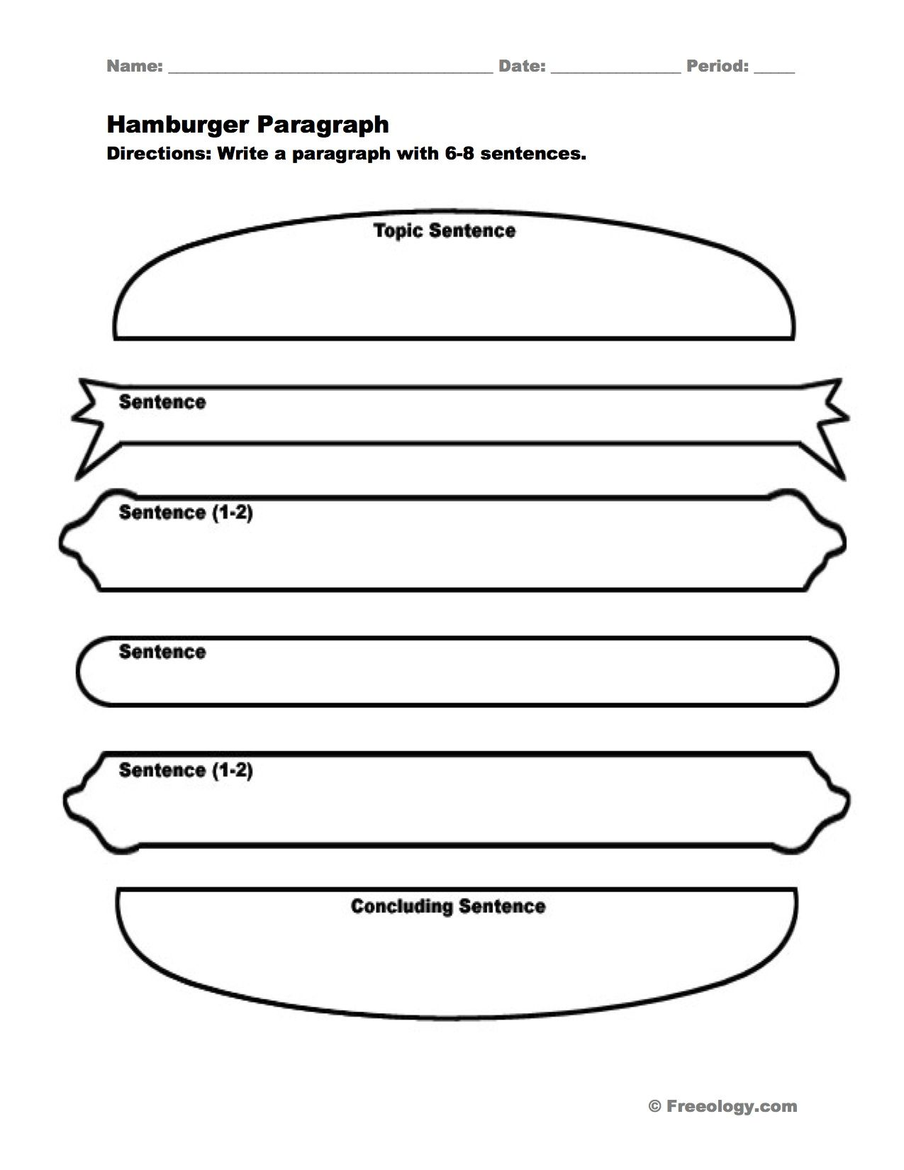 Hamburger Paragraph I Love This Graphic Organizer To Help Students Write Nice Full Paragraphs