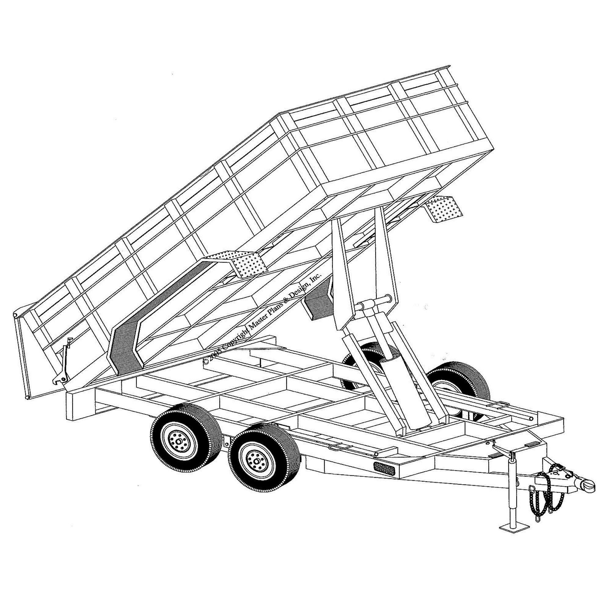 6\'4″ x 12′ hydraulic dump trailer plans model 12hd
