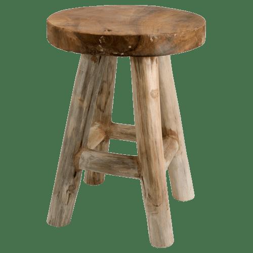 EUR 1749 krukje teak hout rond ca30x42cm Action
