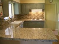 countertops and backsplashes | Kitchen Granite Tile ...