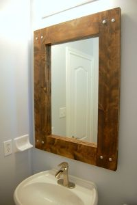 DIY Rustic Mirror | Farmhouse mirrors, Rustic mirrors and ...