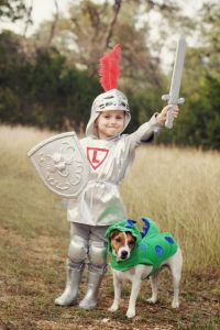 DIY Kids Knight Costume and Dragon Dog Costume | Halloween ...
