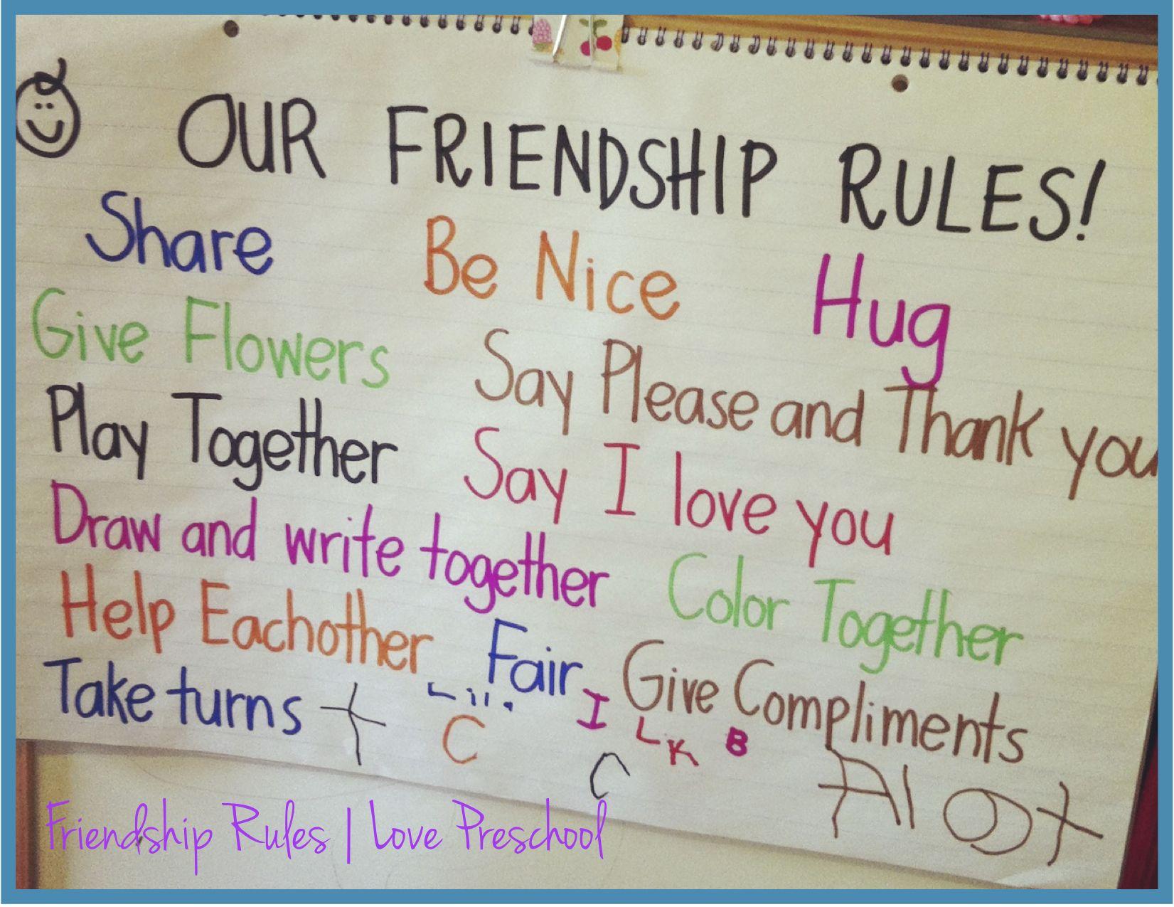 Setting Up Rules In A Preschool Classroom Friendship