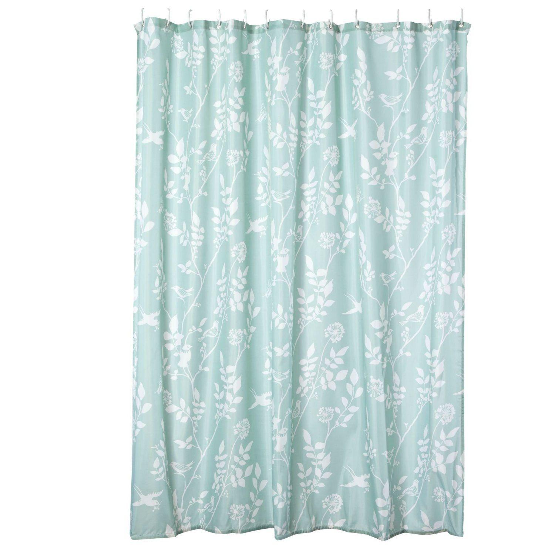 Debenhams Turquoise Bird Printed Shower Curtain Amazon Co Uk