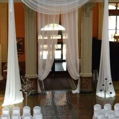 Gray Chair Covers For Weddings Pads Landmark Center In St Paul Mn Draping Linens