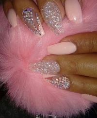 Pretty Pink BLING Coffin Nails | *NAILS* | Pinterest ...