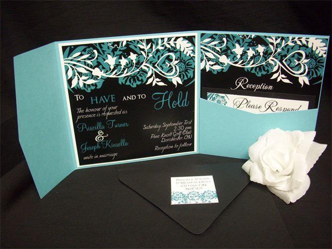 Black White And Turquoise Wedding Ideas