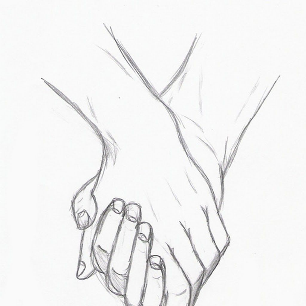 Anime Couples Drawing Holding Hands Anime Couples Holding