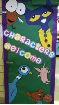 "Classroom Door Ideas ""Characters Welcome"" Primary ..."