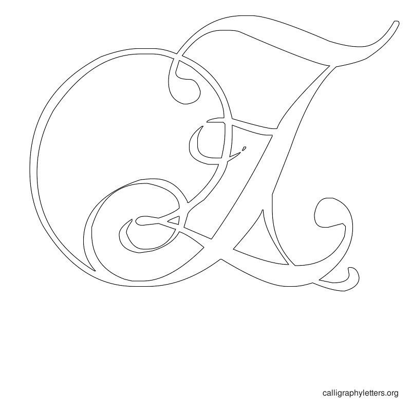 Calligraphy Letter S
