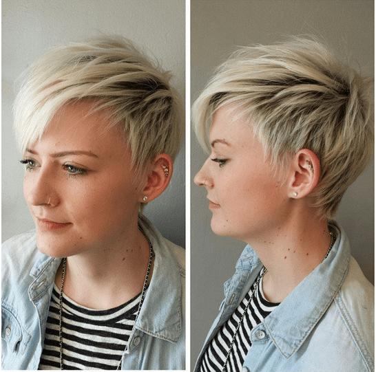 Blonde Short Shag Haircuts Frauen Frisur Ideen Hair Pinterest