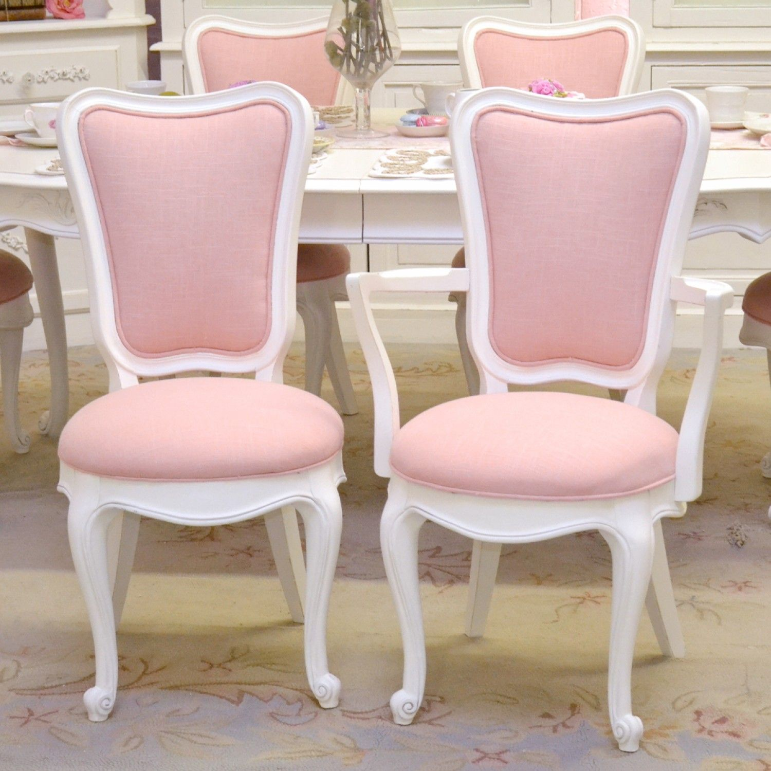Tall Back Dining Chairs Elegant Tall Back Dining Chairs In Pink Linen Set Of 6