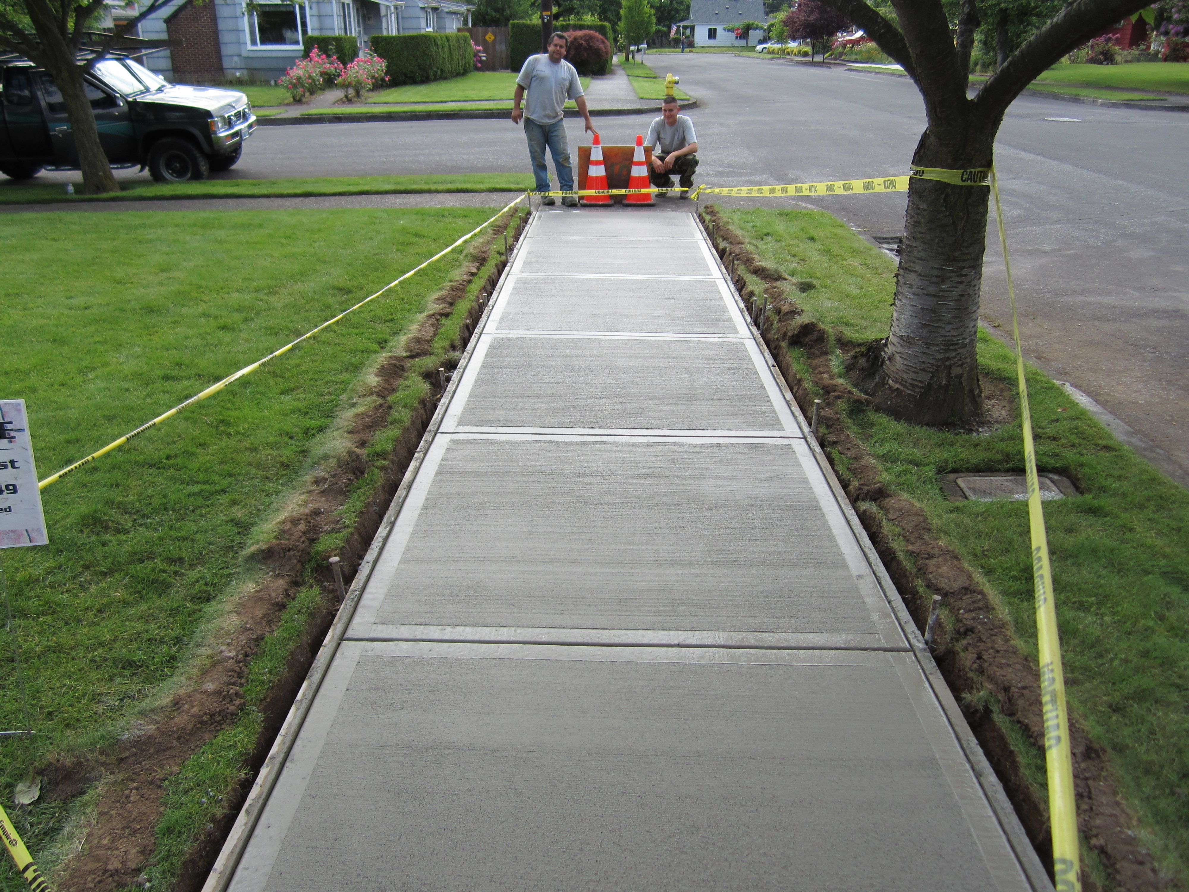 Diy Poured Concrete Walkway