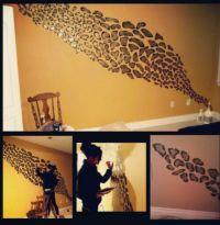 Cheetah print wall   DIY   Pinterest   Cheetah print walls