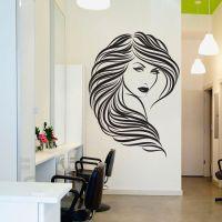 DIY Vinyl Hair Beauty Salon Sexy Girl Wall Decal - Home ...