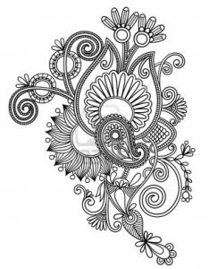 Original hand draw line art ornate flower design ukrainian traditional style raster version stock photo from the largest library of royalty free images also how to google search pinterest rh