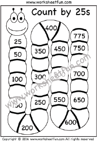Skip Counting by 25 – Count by 25s