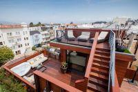 unique rooftop deck ideas two levels roof deck jacuzzi ...