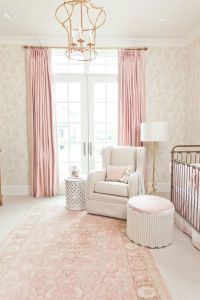Inside a Perfectly Elegant Pink-and-Gold Nursery | Girl ...
